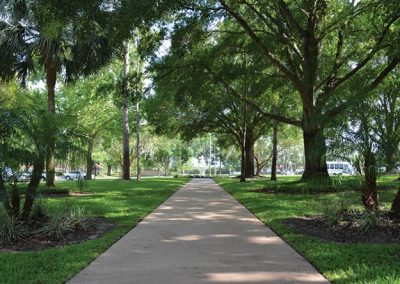 Front Walk of The Estates at Carpenters in Lakeland, Florida.
