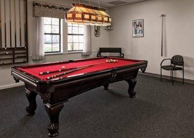 Game Room at The Estates at Carpenters in Lakeland, Florida.