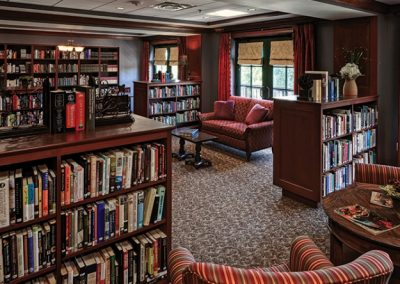 Library at The Estates at Carpenters in Lakeland, Florida.