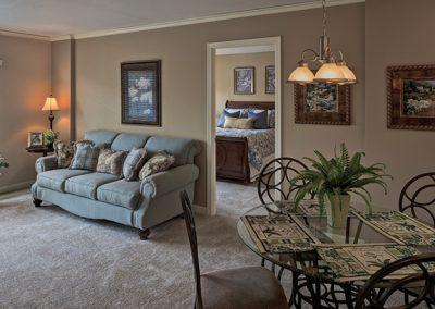 Living Room at The Estates at Carpenters in Lakeland, Florida.