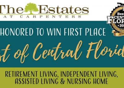 The Estates at Carpenters Wins The Ledger's Best of Central Florida