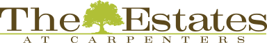 The logo of The Estates at Carpenters in Lakeland, Florida.